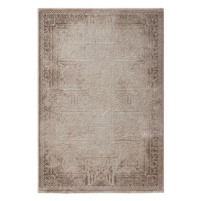 Vintage Patchwork Muster Designer Teppich Vintage Elegance in Braun | MY6640J