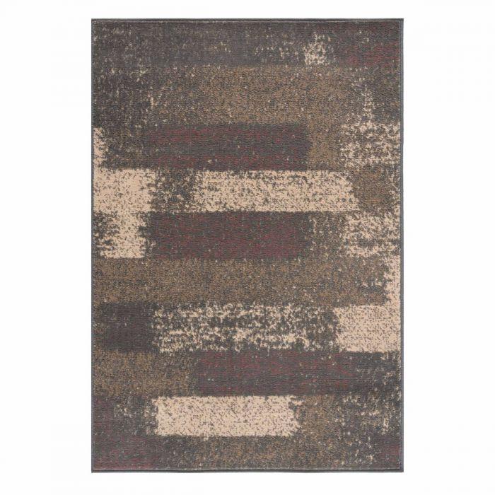 Kurzflor Teppich Braun Pastel Abstrakt Meliert 3197V