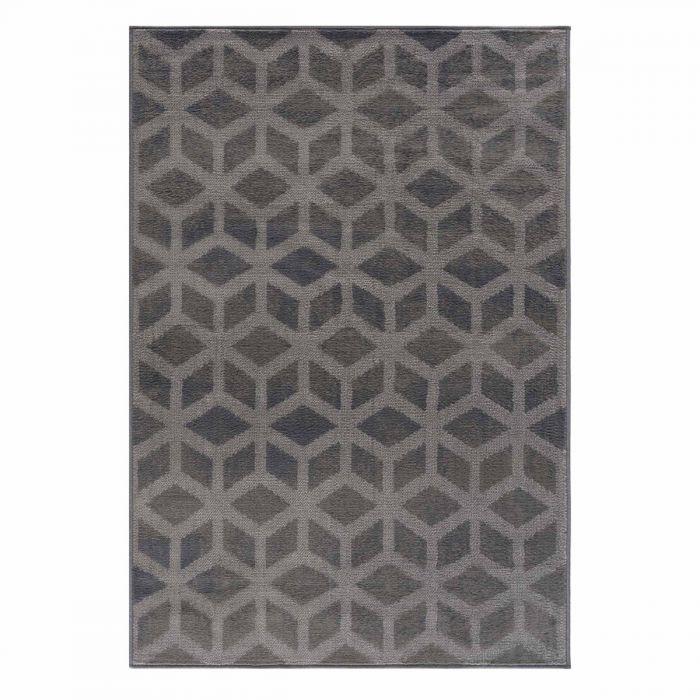 Kurzflor Teppich Grau Pastel 3D Optik 3222S