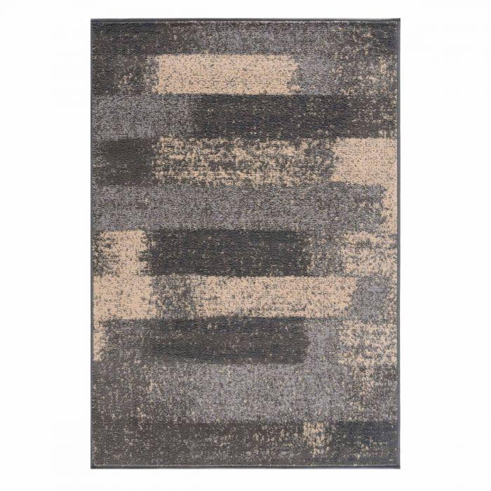 Kurzflor Teppich Grau Pastel Abstrakt Meliert 3197S