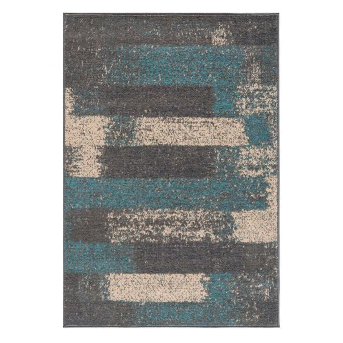 Kurzflor Teppich Türkis Pastel Abstrakt Meliert 3197T