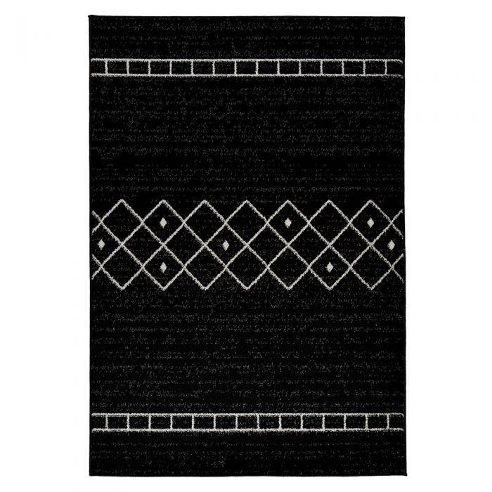 Teppich Kurzflor Schwarz Trend Skandi Design M1770