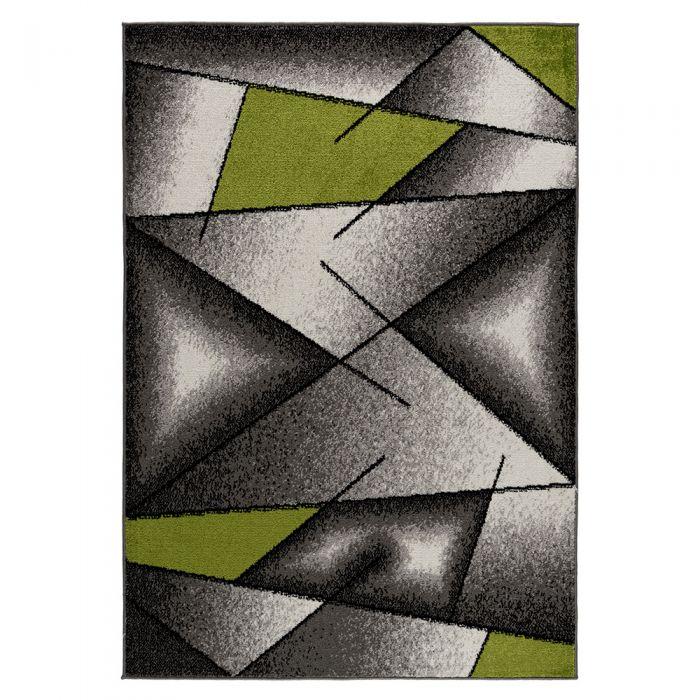 Moderner Kurzflor Teppich Grün Designer Muster M1790