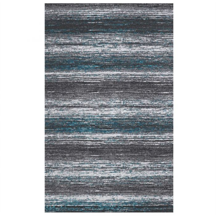 Moderner Kurzflor Teppich Türkis Grau Weiß Farbverlauf M301T