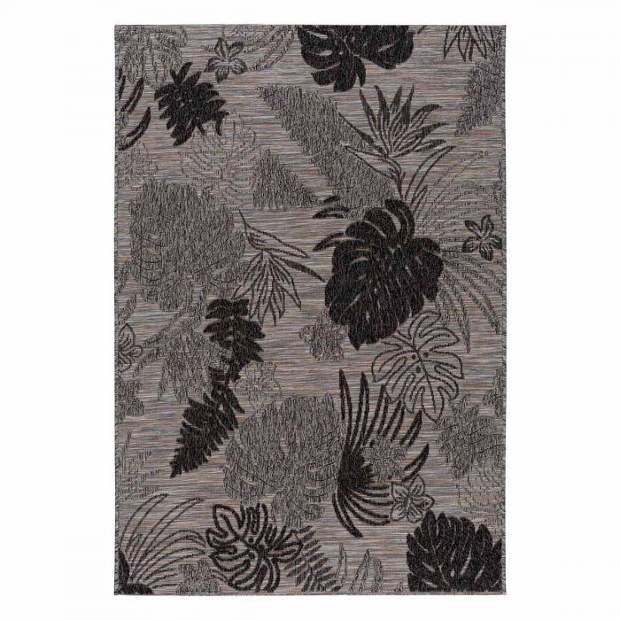 Outdoorteppich Floral in Grau mit 3D Struktur M3470