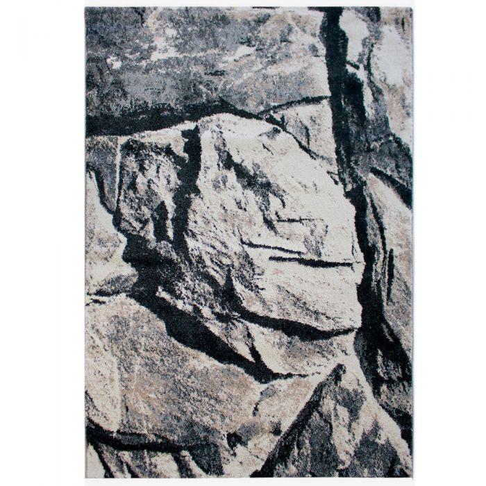 Teppich Kurzflor Beige Vintage Style Used Look Granit M7615