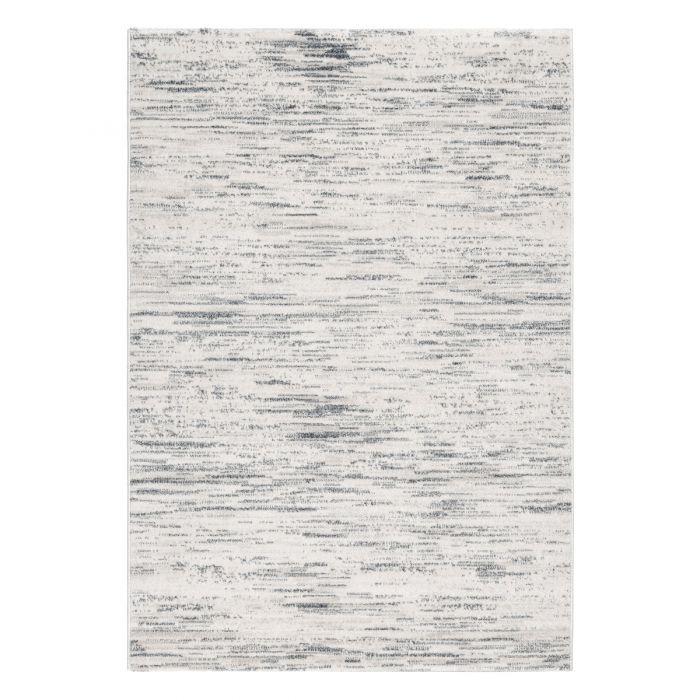 Wohnzimmer Teppich Modern Grau Gepunktetes Muster Konturen M7406G