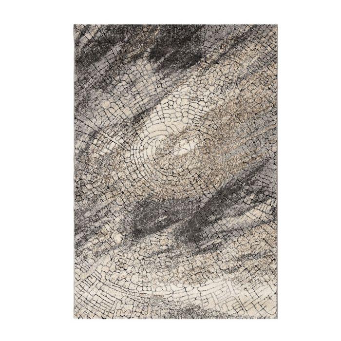 Teppich Kurzflor Vintage Style Used Look Baumstamm M7608