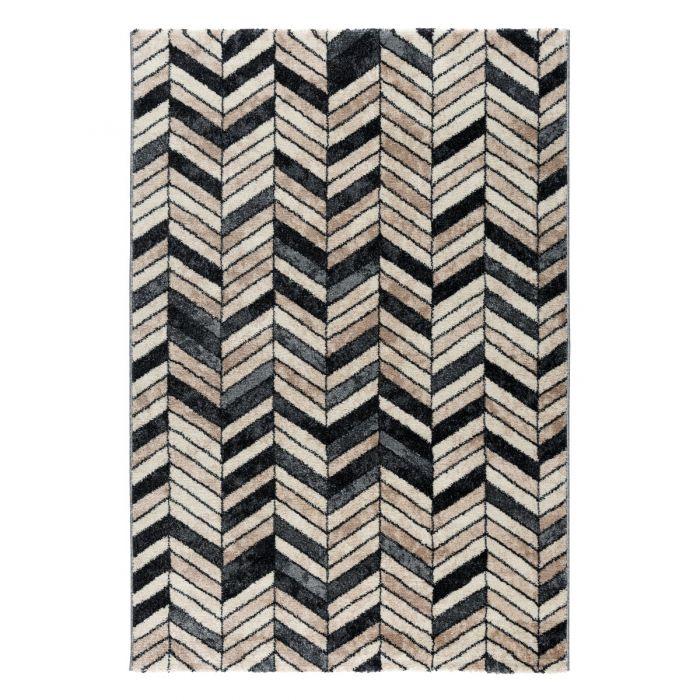 120x170 cm Teppich Kurzflor Used Look Beige Vintage Nerz Design MY7612