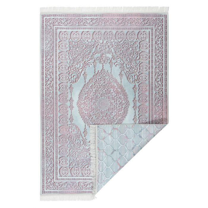 2-Face-Beidseitige-Teppiche Waschbarer Teppich BEIDSEITIG verwendbar in Rosa in Modern | Klassik MY213R