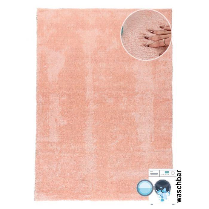 Waschbarer Fellteppich Classy Rosa M120