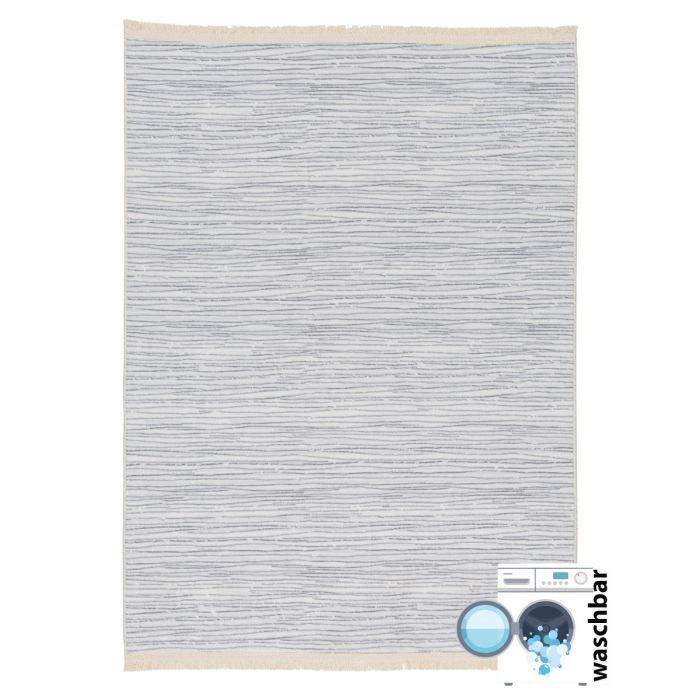 Waschbarer Teppich Bamboo Grau M2165