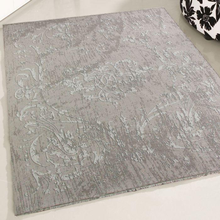Teppich Waschbar Beige Rutschhemmend Kelim Design Modern Abstrakt