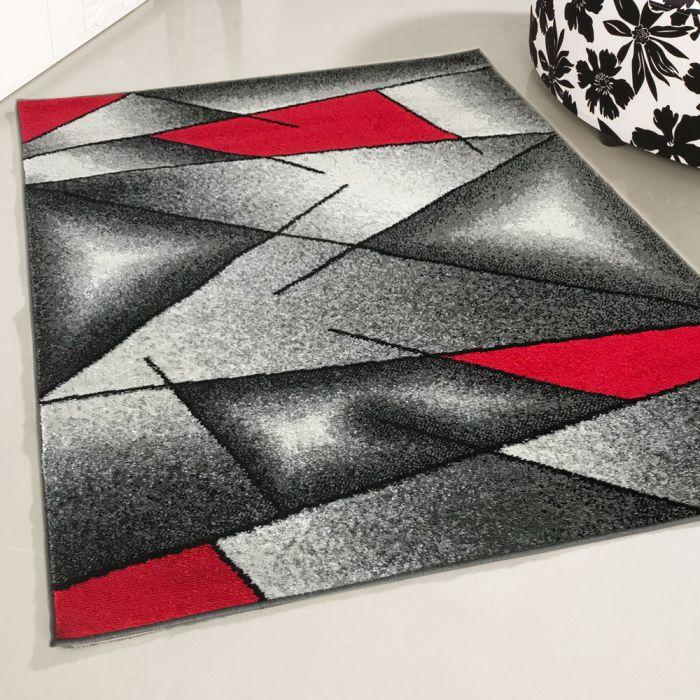 Teppich Kurzflor Modern Rot Designer Wohnzimmer Jugendzimmer
