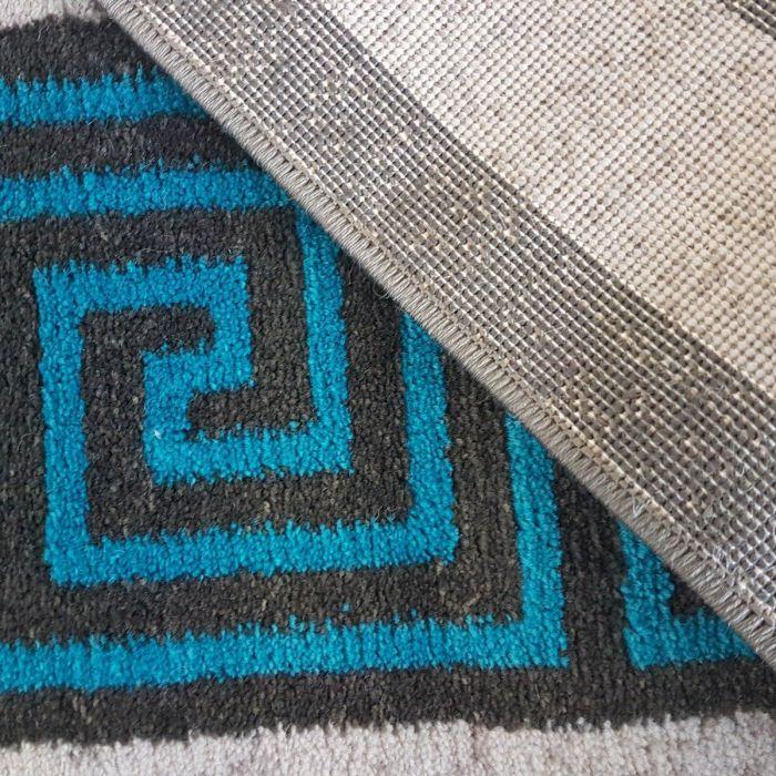 Teppich Blau Grau Versace Einzelstuck In 160x230 Cm Unikat