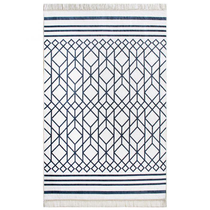 Teppich Laufer Waschbar Schwarz Weiss Modern Designer Design Boheme