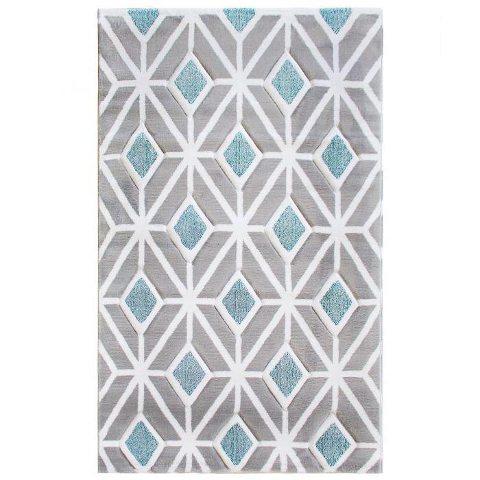 Teppich Kurzflor Turkis Skandinavisch Design Wohnzimmer Designer