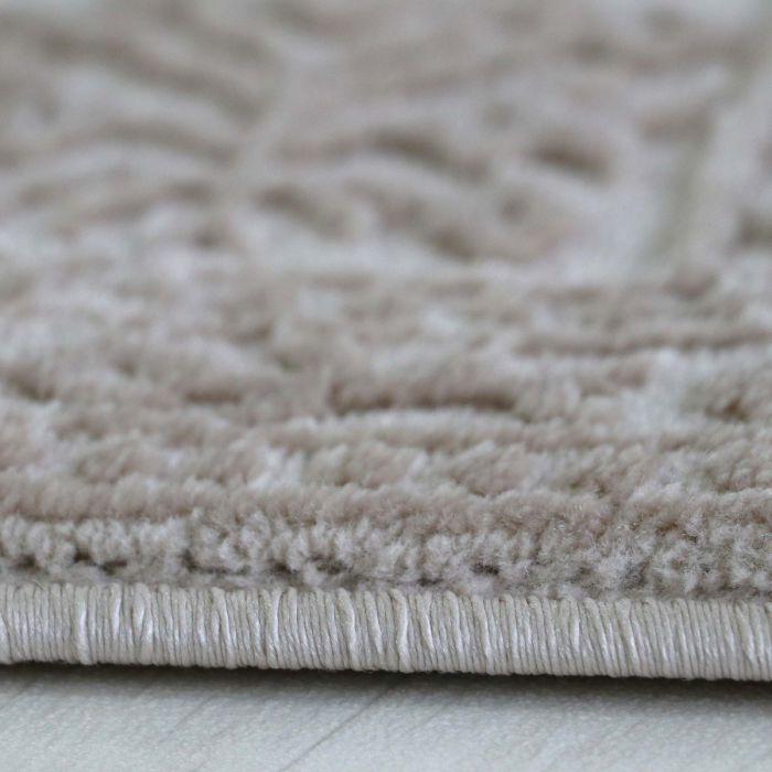 Teppich Beige Vintage Velour Mit Medaillon Muster Designer Design