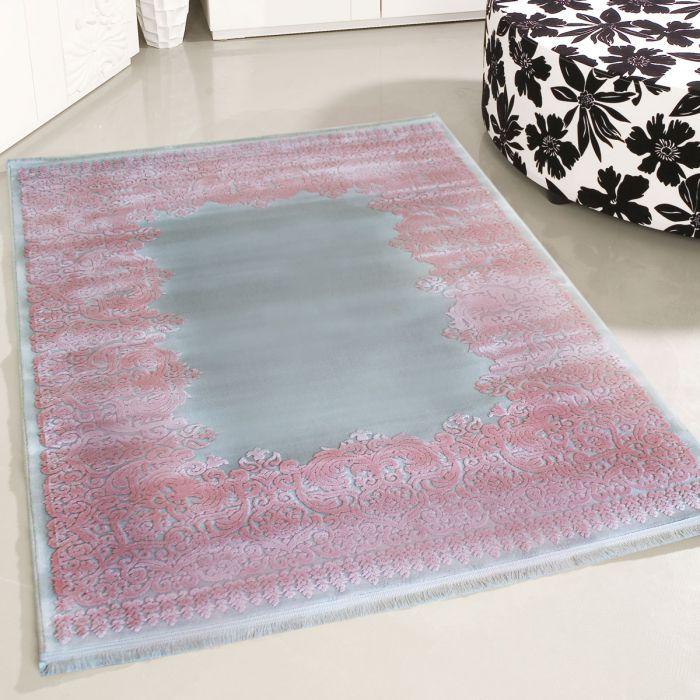 Designer Teppich Grau Rosa 3d Vintage Barock Myp4286 120x170 Cm