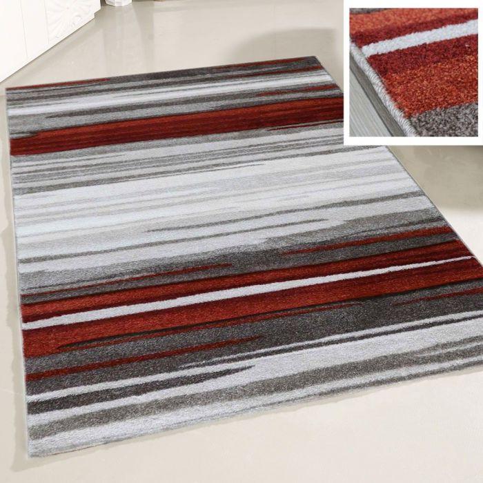 Teppich Wohnzimmer Modern Terra Grau | Naturfarbe Design MY7422