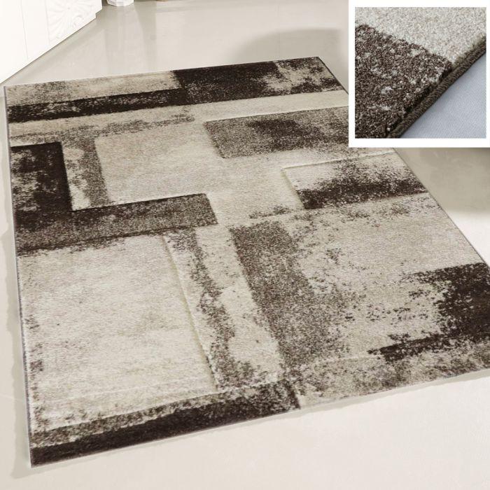 Teppich Wohnzimmer Beige | Design Marmor Meliert MY7432