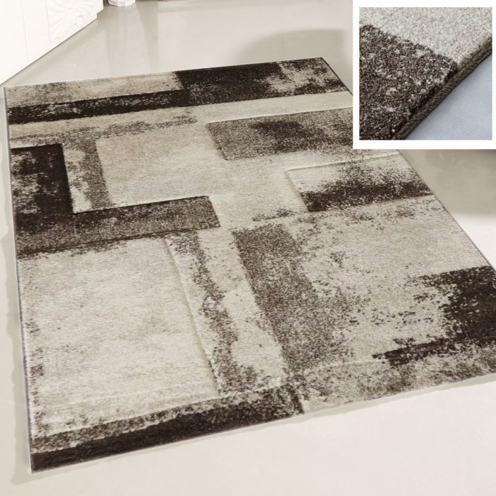 Teppich Wohnzimmer Beige | Design Marmor Meliert MY7432 | 120x170 cm ...
