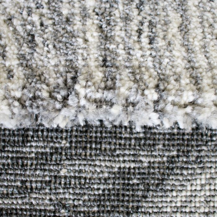 Teppich Kurzflor Feder Muster Designer Wohnzimmer Grau Weiss