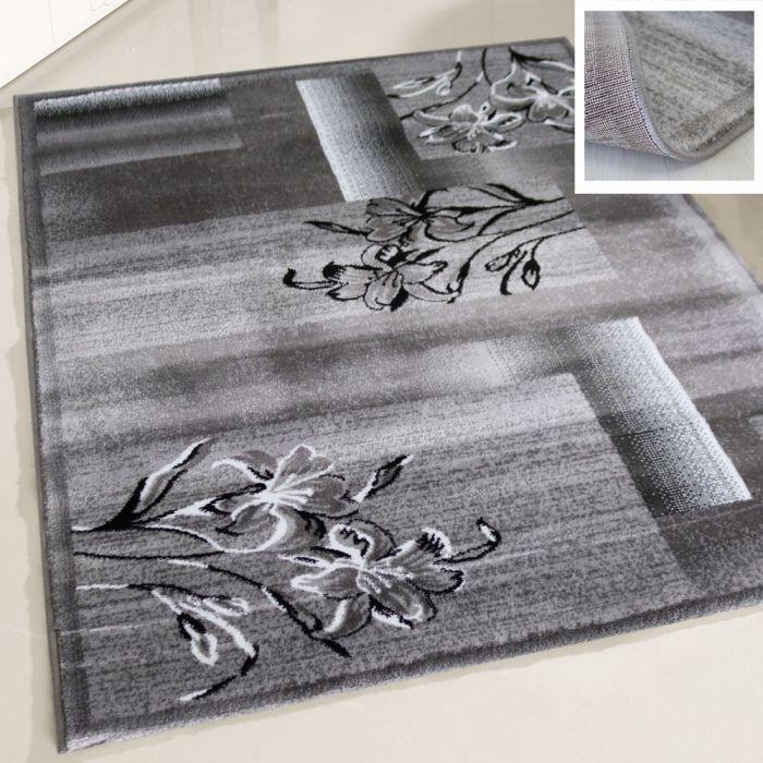 Kurzflor Teppich Grau Teppich Wohnzimmer Modern My7820 120x170 Cm