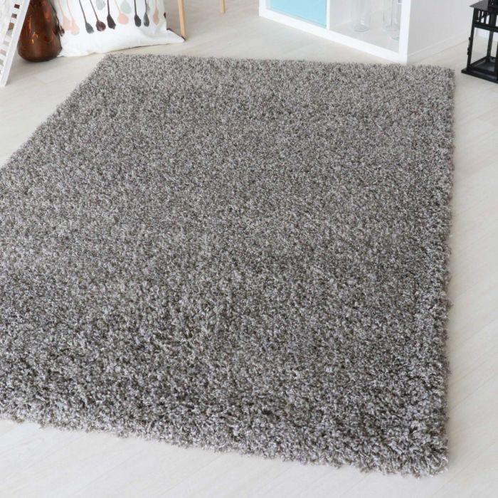 50 Mm Shaggy Hochflor Teppich Grau 2 Farbige Melierung My160