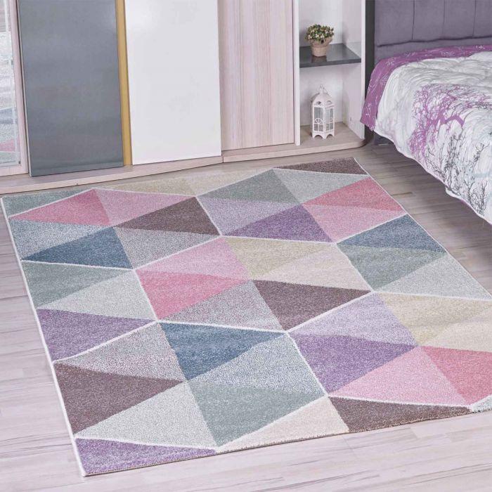 Kinderzimmer Teppich Bunt Geometrische Muster Für Jungs Und