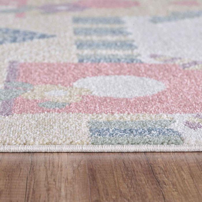 Kinderzimmer Teppich Bunt | Vogelmotiven für Jungs | Mädchen Nr.4601