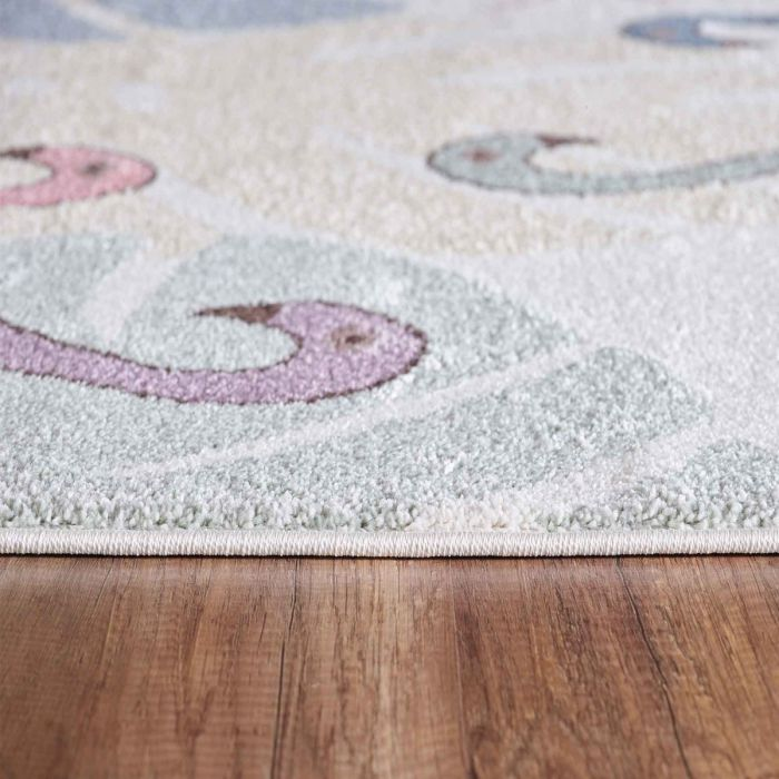 Kinderzimmer Teppich Bunt Tiere Palmen Muster Fur Jungs Madchen Nr 4609 160x230 Cm