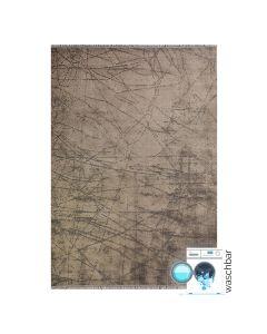 120x170 cm Teppich Waschbar Beige Abstraktes Design MY1200J