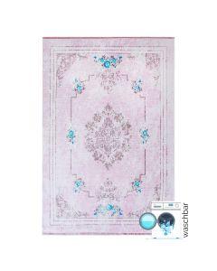 Antibakteriell Teppich Waschbar Rosa | Shabby Chic Design | MY1300P