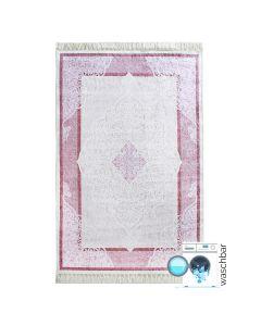 Antibakteriell Waschbarer Teppich Lila Rosa | Moderne Bordüre Umrandung | MY2511