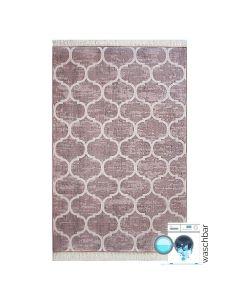 Antibakteriell Waschbarer Teppich Braun Meliert | Marrokanisches Design | MY2810