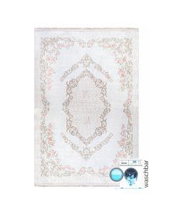 Antibakteriell Waschbarer Teppich Beige | Vintagedesign Floral | MY2921