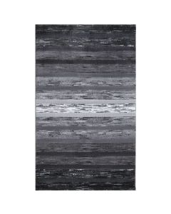 Kurzflor Teppich Modern Grau Schwarz | Designer Farbverlauf | MY303S