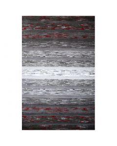 Kurzflor Teppich Modern | Farbe Schwarz Rot | MY305K