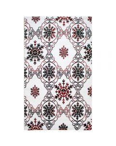 Kurzflor Teppich Rot Weiss | Moderner Vintage | MY310K