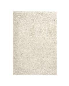 160x220 cm Shaggy Hochflor Teppich Creme Meliert Uni MY383 30 mm