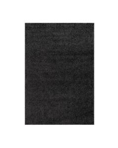 160x220 cm Shaggy Hochflor Teppich Schwarz Meliert Uni MY383 30 mm