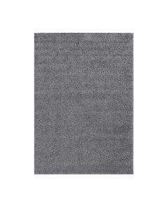 160x220 cm Shaggy Hochflor Teppich Grau Meliert Uni MY383S 30 mm