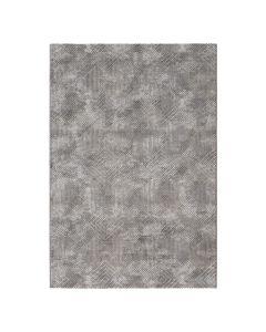 3D Kurzflor Vintageteppich mit Rauten in Grau | MY6620S