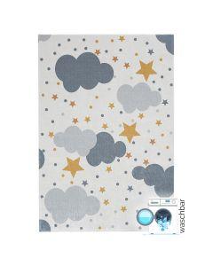 Antibakteriell Waschbarer Kinderteppich Wolken | Kids Modern | MY4030