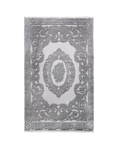 Designer Teppich Grau | 3D Medaillon Muster MYP4204S