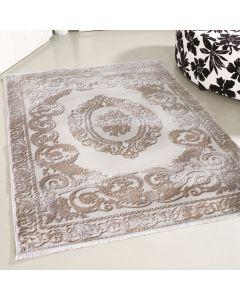 Designer Teppich Beige | Moderne Medaillon Muster MY4204