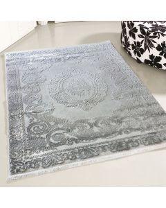 Designer Teppich Grau   Moderne Medaillon Muster MY4204HG