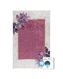 Antibakteriell Waschbarer Teppich in Creme Rosa Gold | MY5100