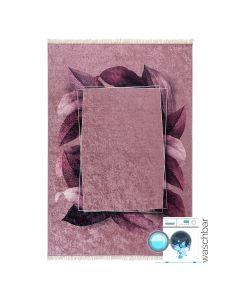 Waschbarer Teppich Antibakteriell in Rosa Gold M5500